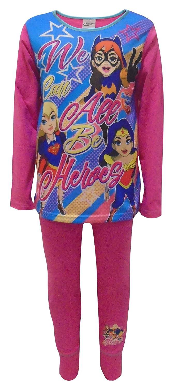 DC Super Hero Girls Girls Pyjamas Wonder Woman Super Girl Bat Girl Pink