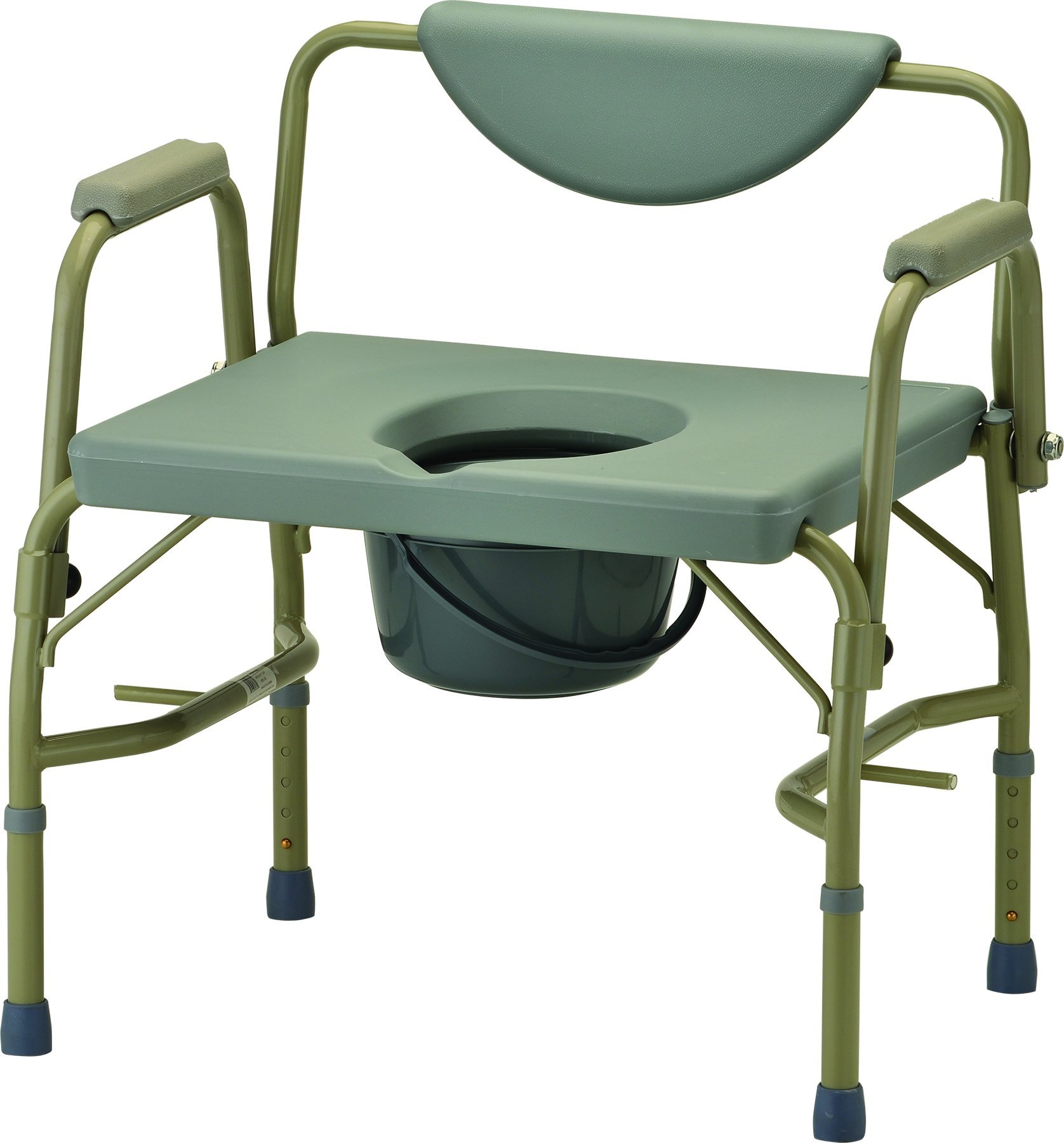 NOVA Medical Products Heavy Duty Commode with Drop-Arm, Grey, 22 Pound