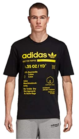 1c88d579e0aa9 adidas Originals Men's Kaval Graphic Trefoil Tee (Small, Black/Shoyel)