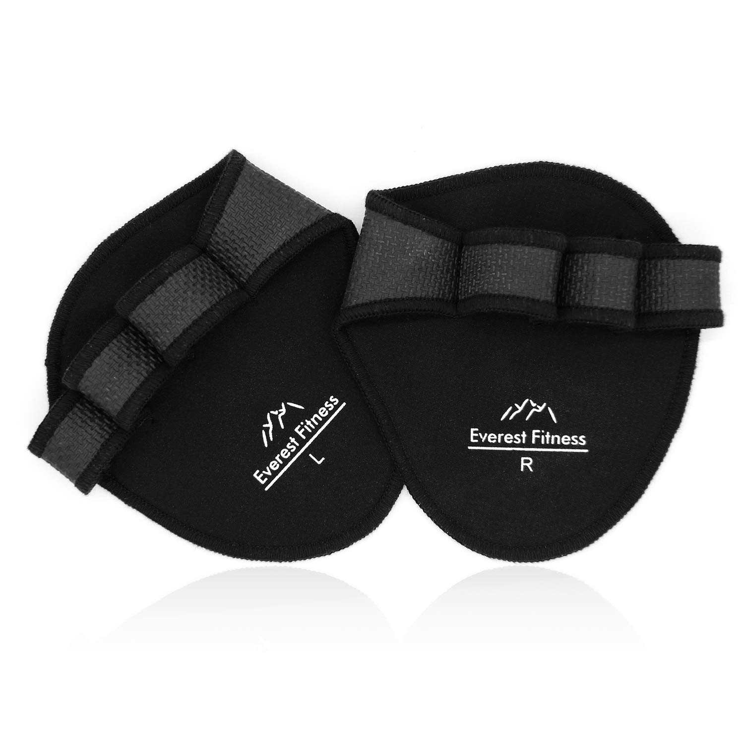EVEREST FITNESS 1 Paar Profi-Griffpolster für Hanteltraining, Klimmzüge und Gewichtheben in schwarz | Grip-Pads, Trainingshandschuhe, Grip-Polster, Hand-Guard, Palm-Protector