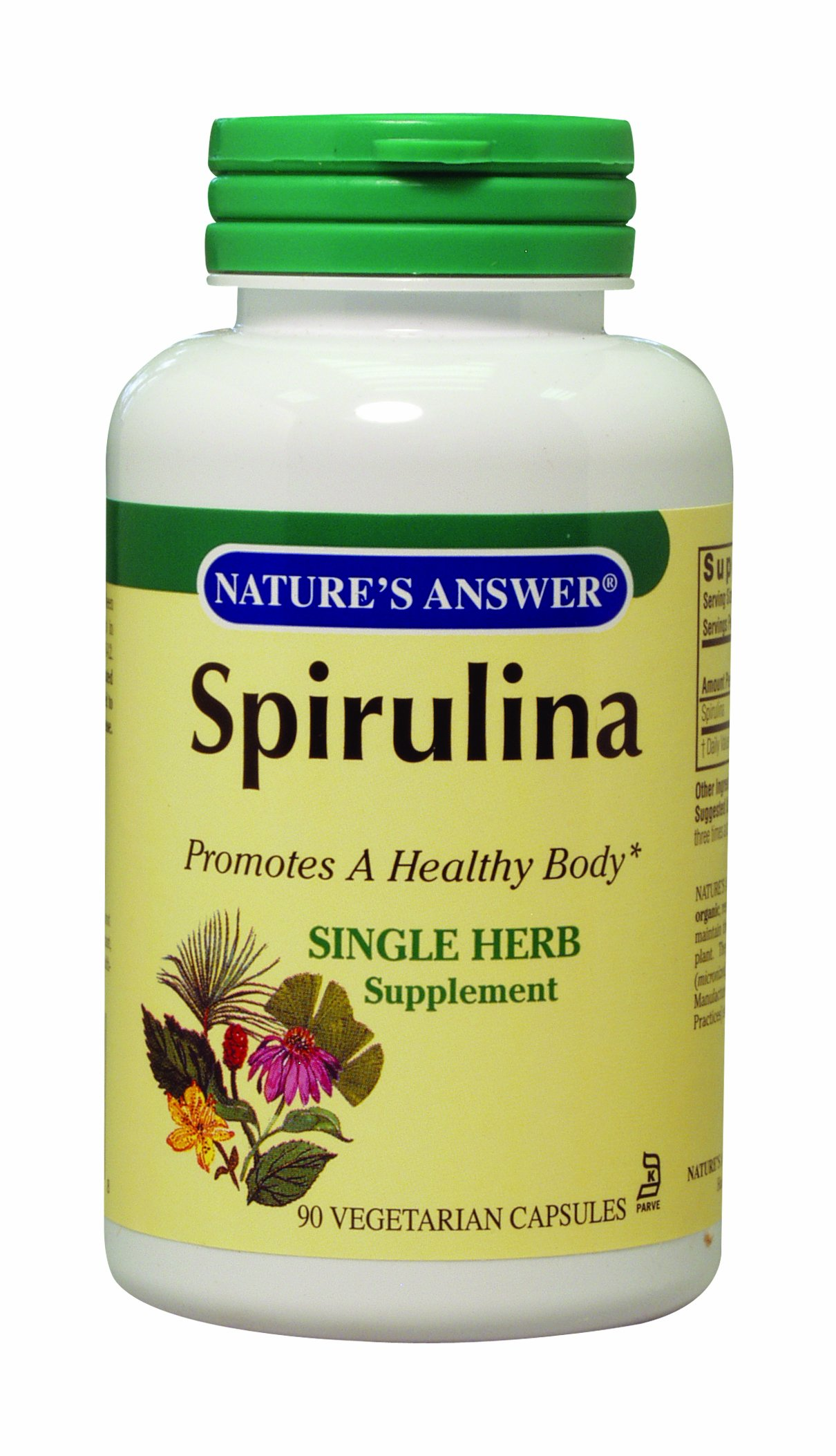 Nature's Answer Spirulina, Vegetarian Capsules, 90-Count