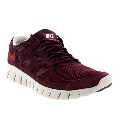 038fde1b6486 NIKE Mens Free Run 2 Lace Up Sports Running Active Athletic Trainers - Deep  Burgundy