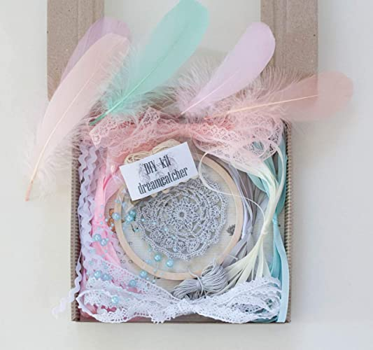 Amazon DIY Dreamcatcher Kit Boho Kids Craft Doily Dream Catcher 48 12 Cm Diameter Birthday Party Activity Bridal Shower Favour Handmade