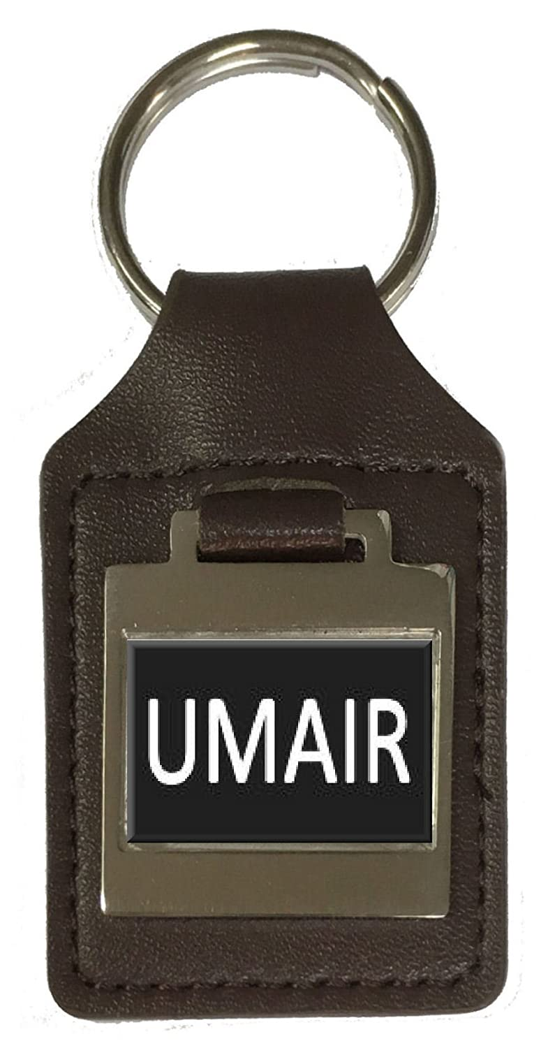 Umair Leather Keyring Birthday Name Optional Engraving