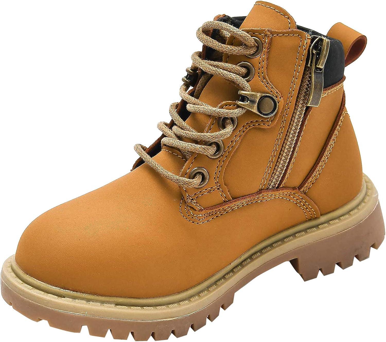 KVbabby Botas para Ni/ñas Ni/ños Impermeable Botas Martin Invierno Infantiles Cordones Anti Deslizante Martin Boots
