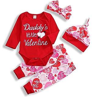 810e77797 Amazon.com: Odeer Daddy's Valentine - Newborn Infant Baby Girl ...