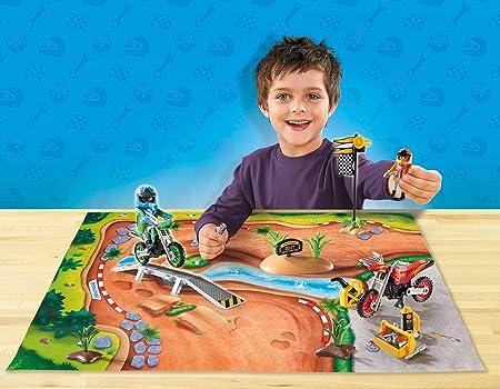 PLAYMOBIL- Play Map Motocross Juguete, Multicolor (geobra Brandstätter 9329)