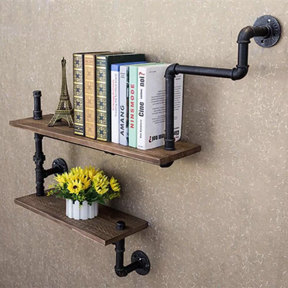 Details about Reclaimed Wood Industrial DIY Pipes Shelves Steampunk Rustic  Urban
