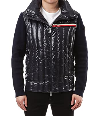a0b97bcd5 Wiberlux Moncler Men s Knit Sleeves Hooded Padded Jacket XXL Navy ...