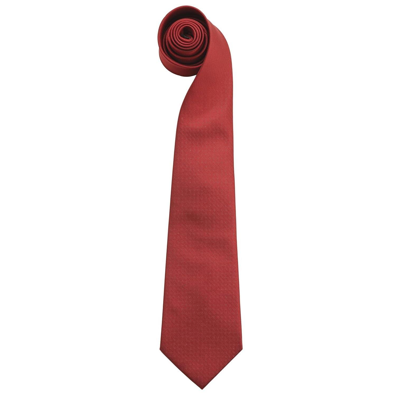 Premier - Corbata - para hombre rojo granate talla única: Amazon ...