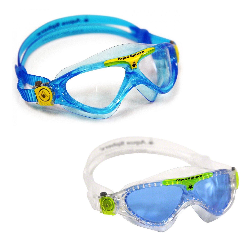 2719406458b Amazon.com : Aqua Sphere Vista Junior 2 Pack Swim Goggles : Sports &  Outdoors