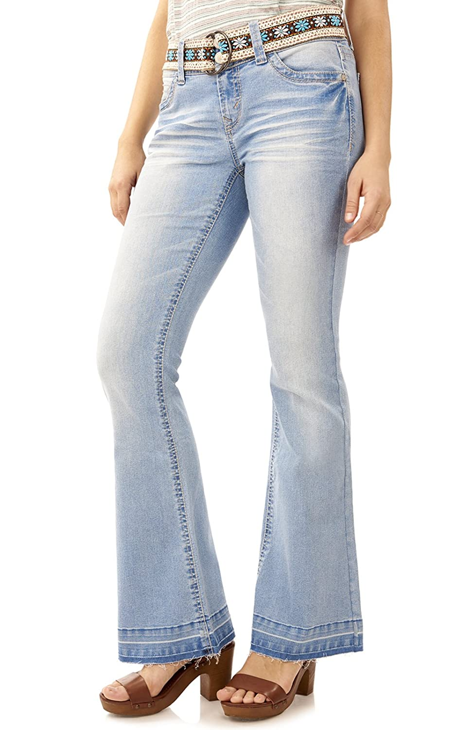 WallFlower Curvy Drop Hem Flare Jeans