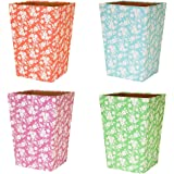 Karenza & Co DITSY FLORAL WASTE PAPER BIN (TURQUOISE)