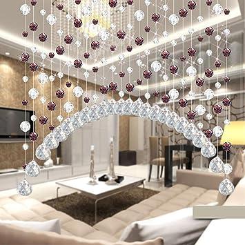 Moginp Vorhang,Kristallglas Perlen Luxus Vorhänge Wohnzimmer Schlafzimmer  Fenster Tür Hochzeit Dekor Gardinen (B