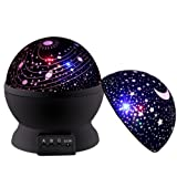 Amazon Price History for:Newest SCOPOW Rotating Universe Cover and Star Cover Night Lighting 3 Mode Lamp Romantic Projector, Rotation Night Projection Lamp Kids Bedroom Bed Lamp for Christmas Children Baby Girl Boy (Black)