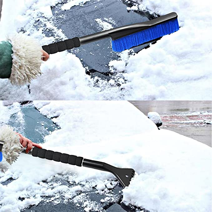 Haichen 1pc Cars Ice Scraper Frost and Windscreens Ice Removal with Soft Grip Random Color