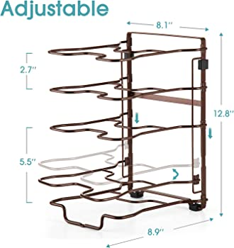 Bextsware 5 Durable Space Saving Cookware Storage Holder