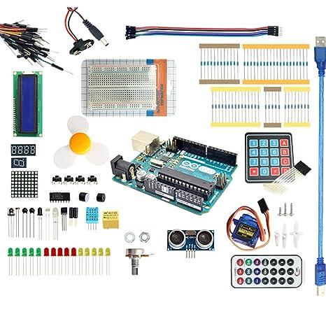 Amazon landzo arduino starter kit with official arduino uno r3 landzo arduino starter kit with official arduino uno r3 microcontroller for arduino solutioingenieria Images