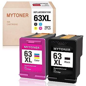 MYTONER 63XL Cartuchos de tinta remanufacturados HP 63 63XL ...