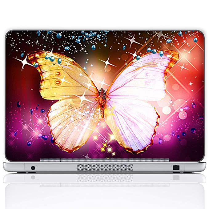 Amazon.com: Meffort Inc 17 17.3 Inch Laptop Notebook Skin Sticker Cover Art Decal (Included 2 Wrist pad) - Big Butterfly: Computers & Accessories
