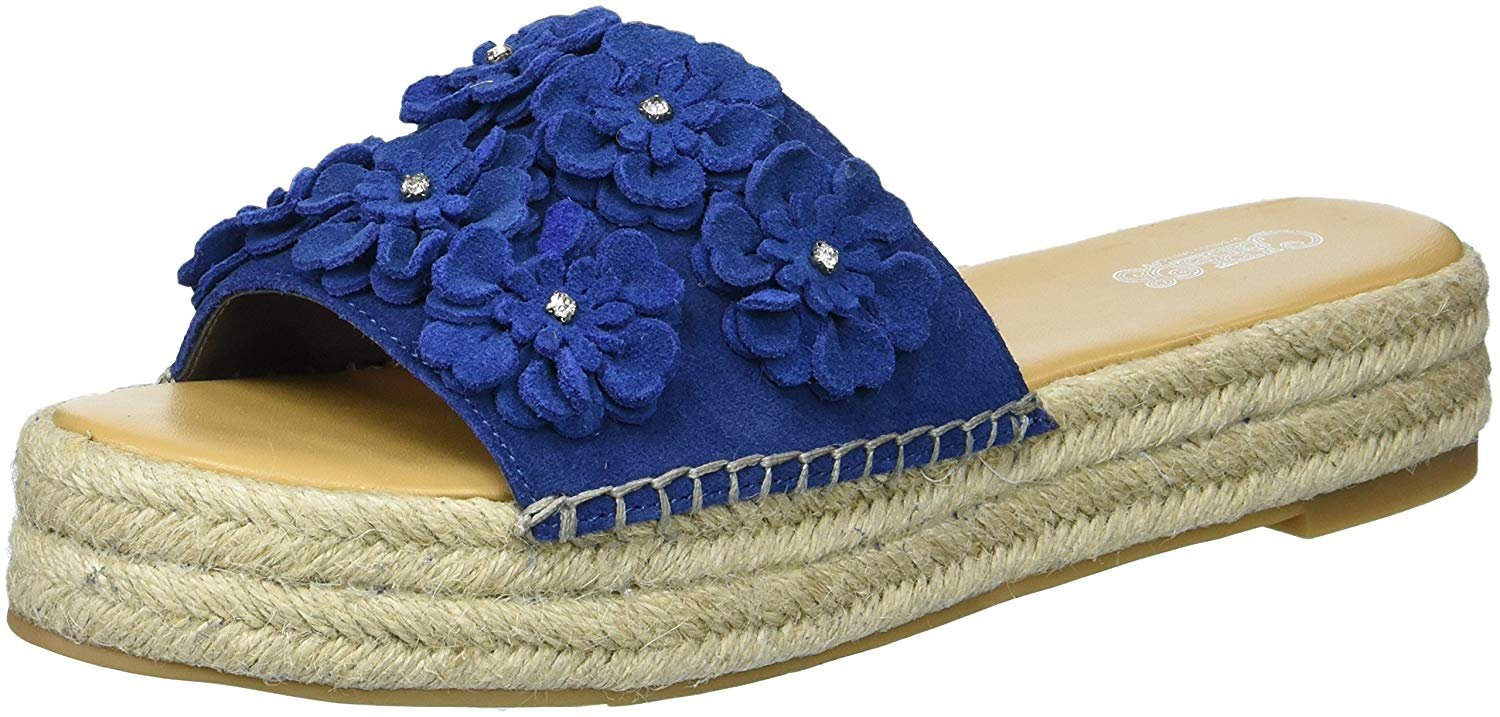 Carlos by Carlos Santana Women's Chandler Slide Sandal, Sapphire, 6 Medium US