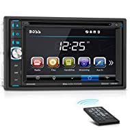 BOSS Audio BV9358B Car DVD Player – Double Din, Bluetooth Audio and Calling, 6.2