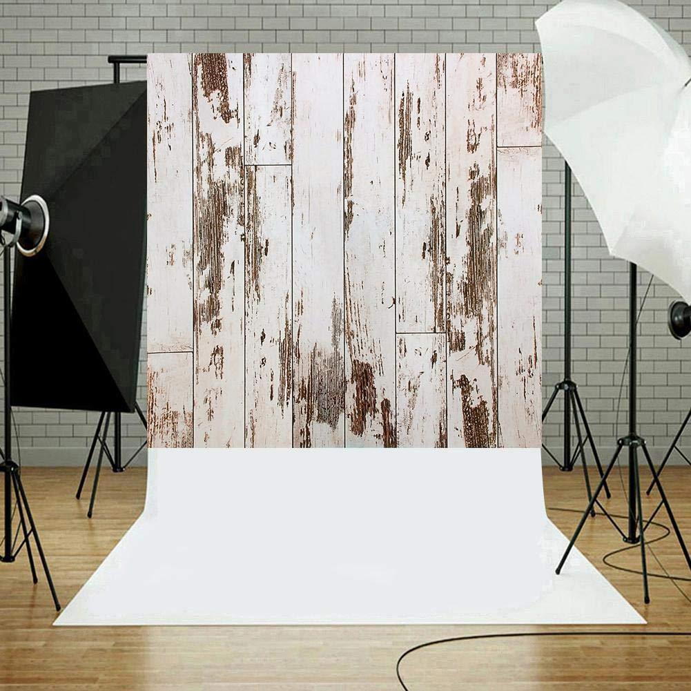 Domybest Lienzo de Fondo con Efecto Madera Vintage para fotograf/ía de Estudio o fotograf/ía