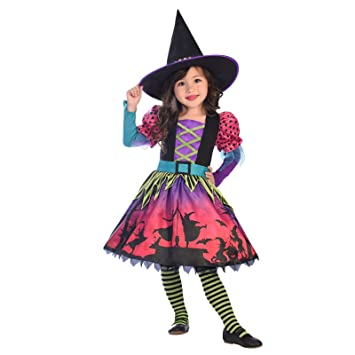 Amscan Premium Girls Spellbook Sweetie Witch Costume Kids Halloween Fancy  Dress