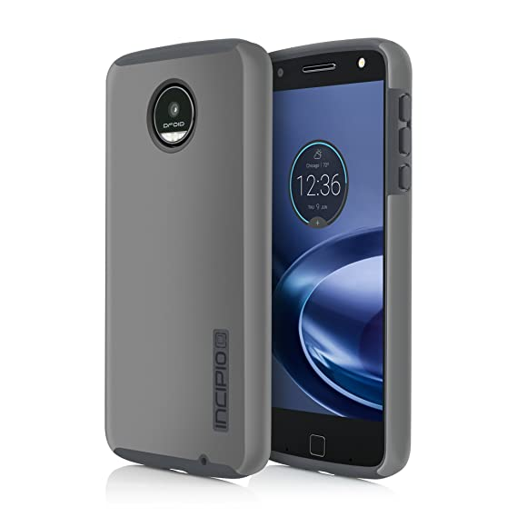 timeless design 01d19 69719 Incipio DualPro Case for Moto Z Force Smartphone - Iridescent Gray / Gray