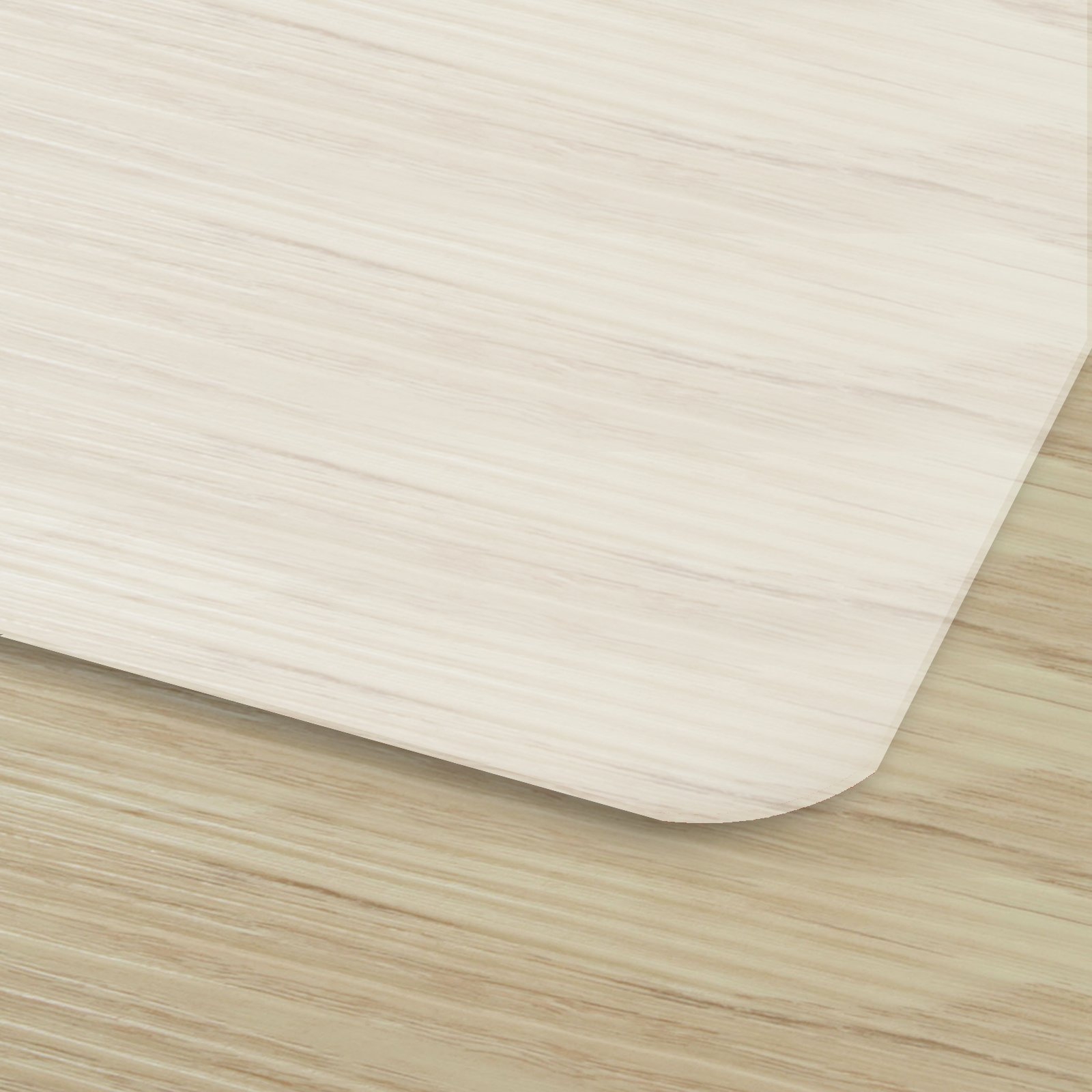 Office Chair Mat for Hardwood Floor   Opaque Office Floor Mat   BPA, Phthalate and Odor Free   Multiple Sizes Available- 48'' x 60'' by OfficeMarshal (Image #2)