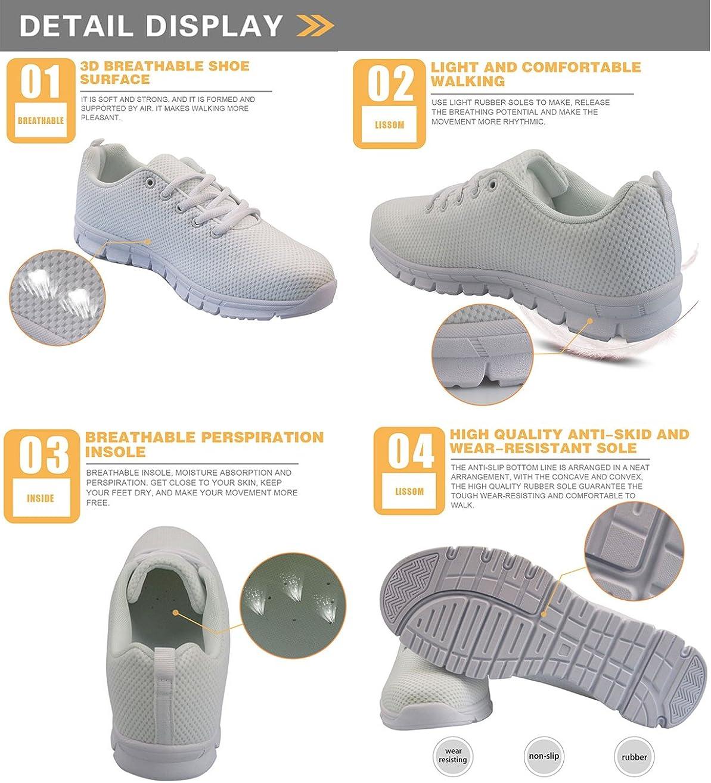 Showudesigns Chaussures De Course Basket Compétition Running Sport Trail Entraînement Multisports Homme Femme Nurse Style White