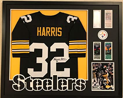 13026291991 Image Unavailable. Image not available for. Color: FRAMED PITTSBURGH  STEELERS FRANCO HARRIS AUTOGRAPHED SIGNED JERSEY ...