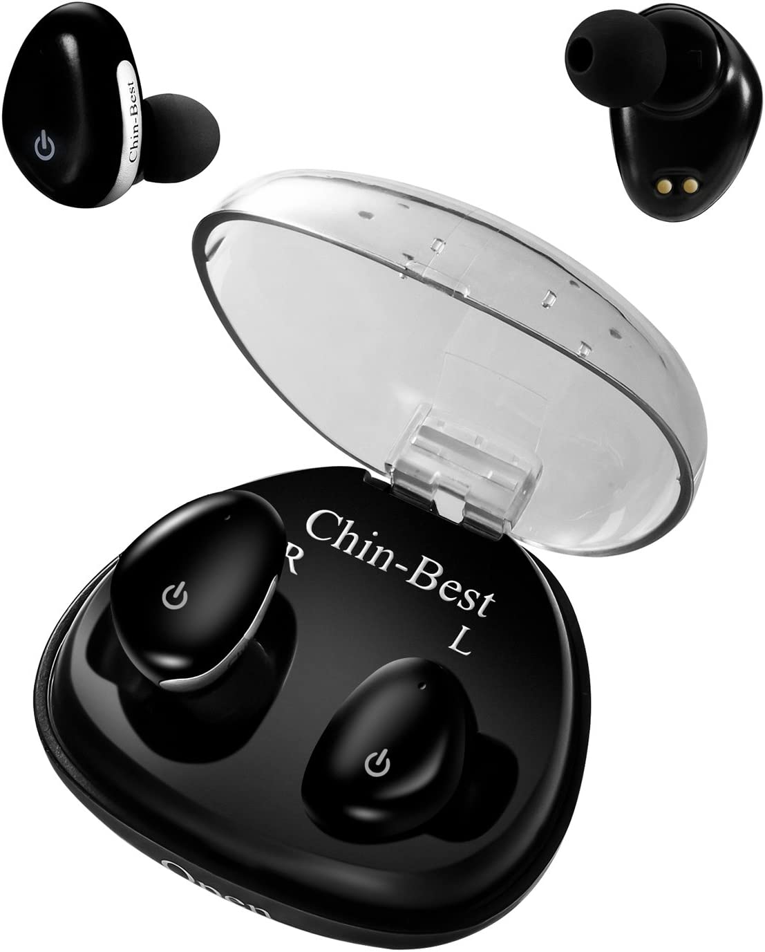 Amazon Com Wireless Headphones Chin Best Touch Control True Wireless Earbuds With Charging Box Sweatproof Wireless Earphones For Iphone Ipad Smartphones 3 Hours Working Time Black Upgraded Home Audio Theater