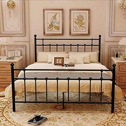 Amazoncom Homerecommend Metal Bed Platform Frame Box Spring