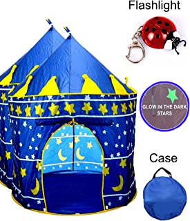 TentTrix Kids Play Tent - Indoor / Outdoor Blue Prince Castle Tent - GLOW IN THE  sc 1 st  Amazon.com & Amazon.com: TentTrix Kids Play Tent - Indoor / Outdoor Princess ...
