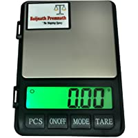 Baijnath Premnath Dairy 1kg (1000gram) x 0.01g (10mg) Digital Jewellery Weighing Scale, Gold & Silver ornaments Weight Measuring machine Portable Weighing Scale for homes and professionals {For research}