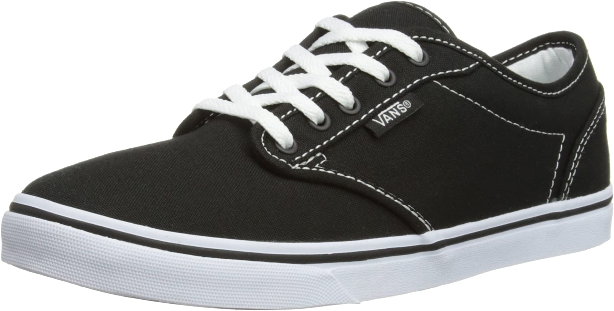 Vans ATWOOD LOW Damen Sneakers, Schwarz ((Canvas)Blk/Wht 187), 35 EU ...