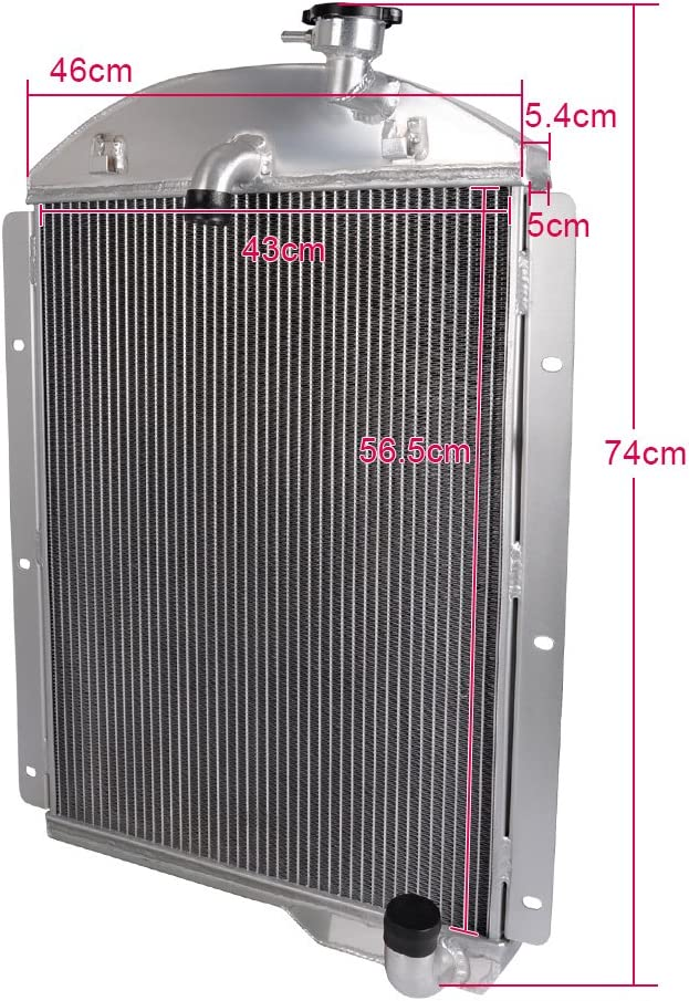 "3 Row BC Radiator W// 2 10/"" Fans for 1941-1946 Chevy Truck Small Block V8 Eng"