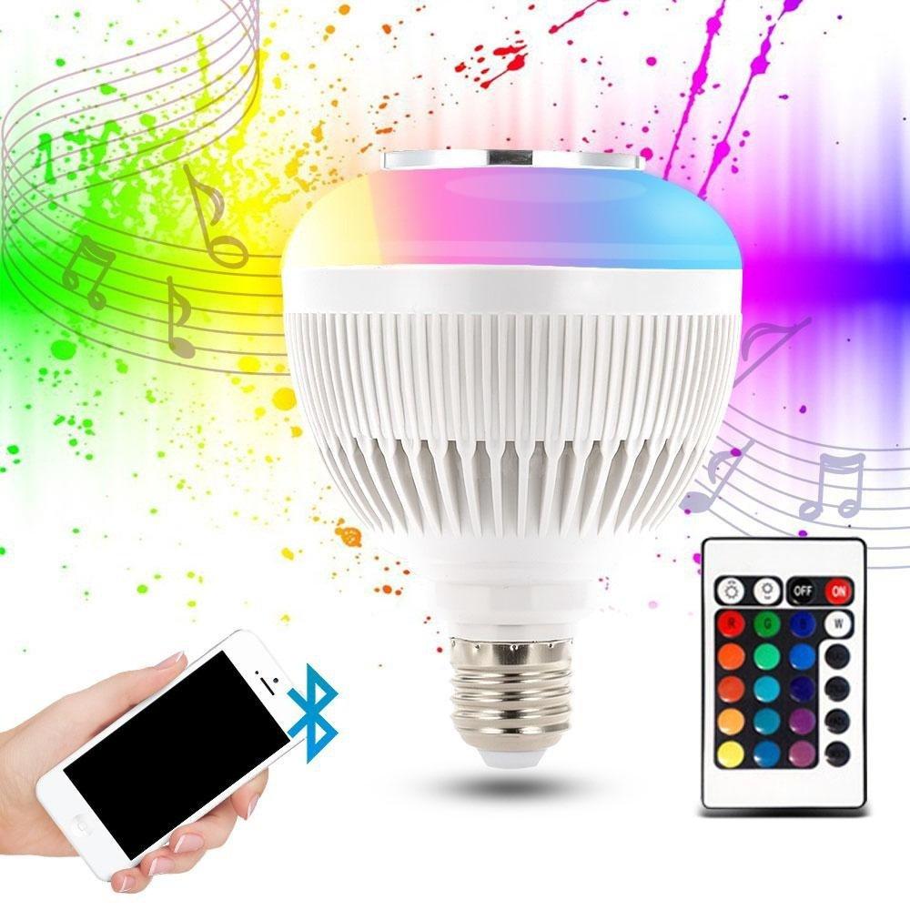 prolight wireless speaker bluetooth music led light bulb e27 wireless smart dimmable bluetooth control built