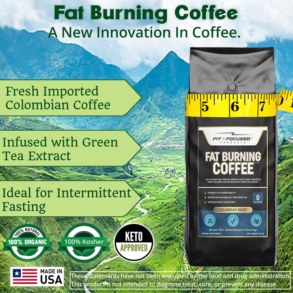 Fat Burning Coffee- Organic Colombian Ground Roast Infused..