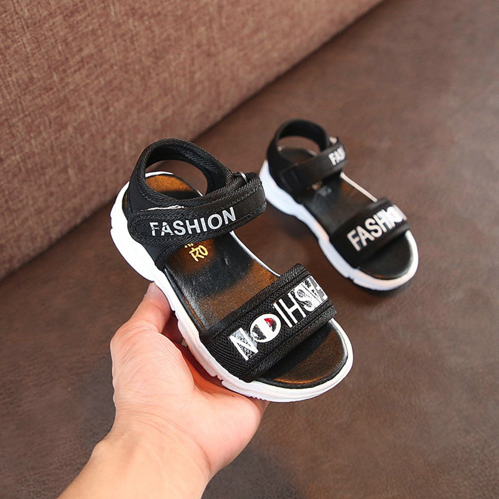 Lurryly Children Fashion Boys Girls Letter Print Baby Casual Sandals Shoes Beach 3-6 T