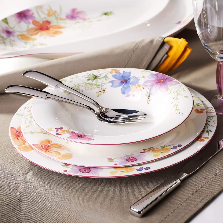 porcelana Premium 21cm Villeroy /& Boch Mariefleur Gris Basic Colorido plato de desayuno