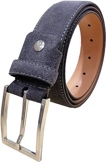 Hombres Cinturones Cinturón de piel de ante genuino para ...