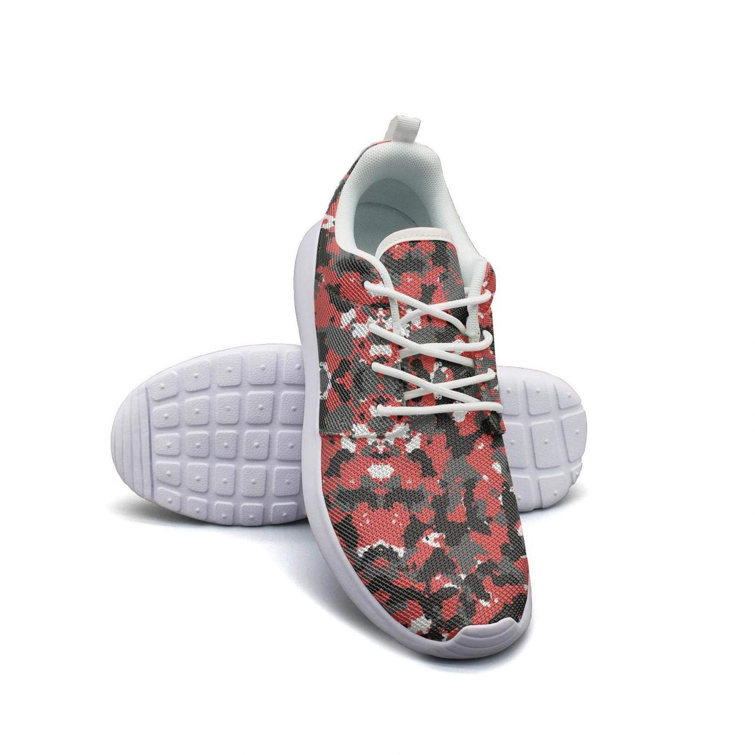 Orange camo flame Casual Shoes for Men slip on Comfortable and Lightweight Male Running Shoes