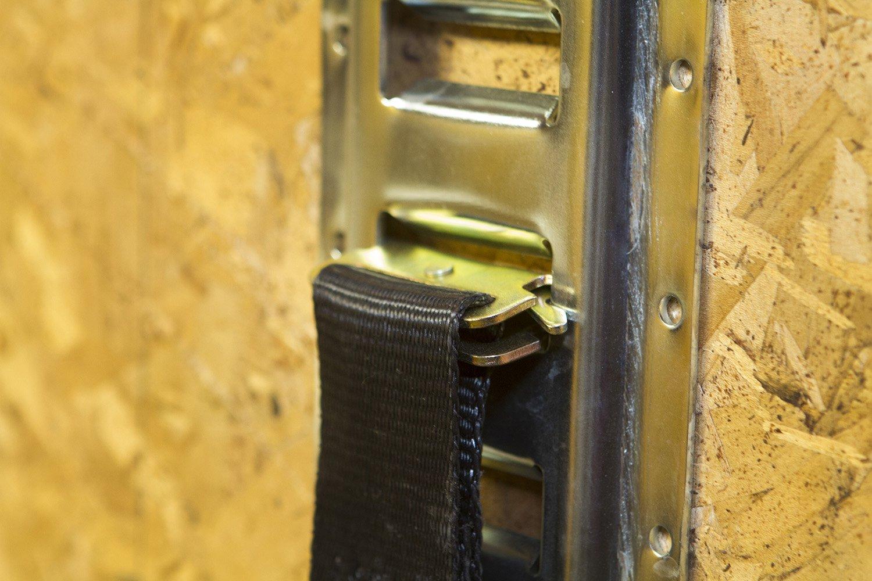 4 Pack 2/' Foot Horizontal E-Track Trailer Tie Down Rails Steel Etrack Rail E Track System E Track Rail ABN