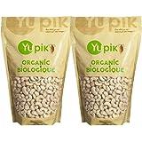 Yupik Organic Raw Cashews, 2 Pack (1Kg)