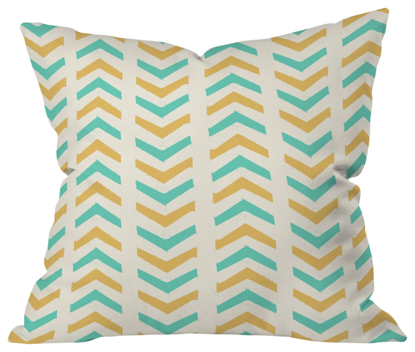 Deny Designs Allyson Johnson Minty Triangles Outdoor Throw Pillow 16 X 16