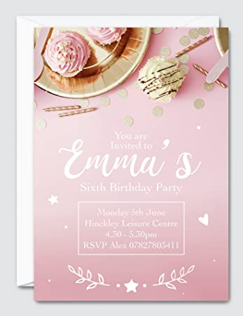 personalised cupcake invitation personalised party invitations