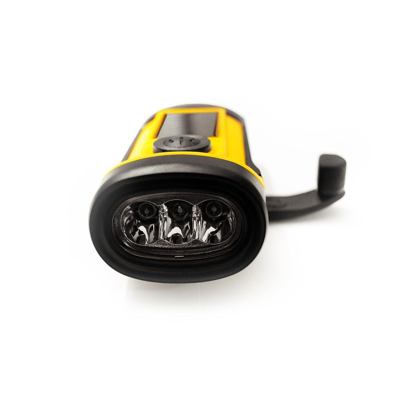 Amazon.com: PrimalCamp - Linterna solar para manivela de ...