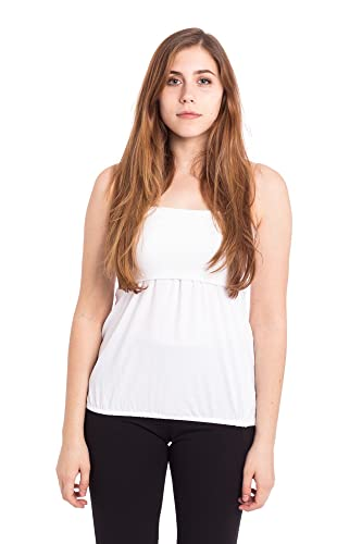 Abbino 813-1 Basics Canotte Tops Donne - Made in Italy - 5 Colori - Primavera Estate Autunno Semplic...